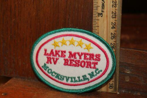 Vintage Embroidered Patch Lake Myers RV Resort Mocksville, NC