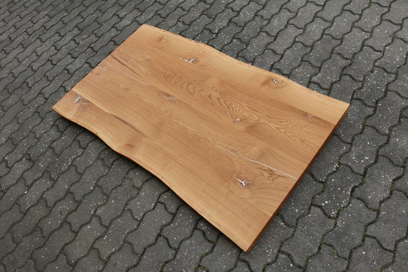 tischplatte platte eiche wild rustikal massiv holz mit baumkante neu leimholz eur 700 00. Black Bedroom Furniture Sets. Home Design Ideas