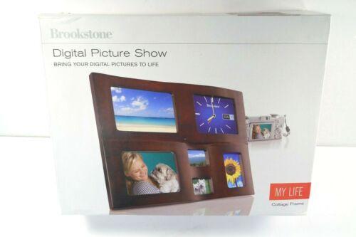 "Brookstone Digital Picture Show My Life Collage Frame DUAL 5"" Digital Frames NIB"