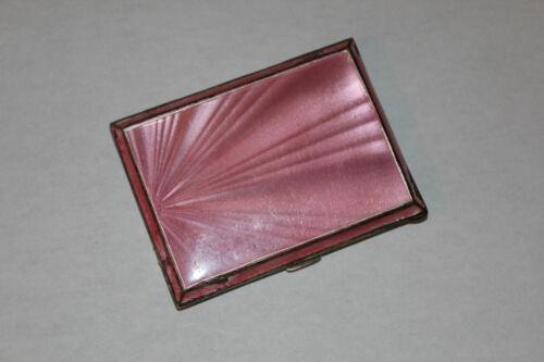 Antique English Sterling Silver Guilloche Enamel Cigarette Case- John C Vickery