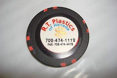 R T PLASTICS  CASINO  SAMPLE  CHIP  MINT  OVERSIZE