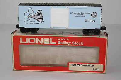 LIONEL 1978 TCA CONVENTION CAR, FLYING YANKEE BOXCAR, EXCELLENT, BOXED, LOT B