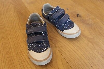 Clarks Kinder Schuhe für Mädchen Gr. 27,5 blau weiß