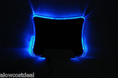 5X BLUE LED LIGHT ILLUMINATED MOUSE PAD/MAT W/4 PORT USB HUB PC/COMPUTER/laptop