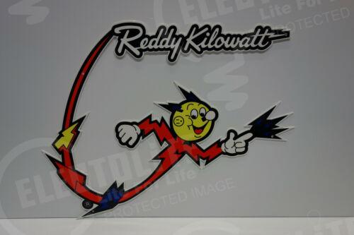 "Electric Power Company Reddy Kilowatt ""BOOMERANG FLASH"" ELECTRICIAN GIFT SIGN"