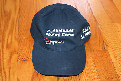 ☆SAINT BARNABAS MEDICAL CENTER NJ HAT BLUE RWJBARNABAS HEALTH SAFETY #1 PRIORITY