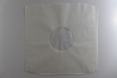 """500 x 12"""" Polylined White Paper Record Sleeves. Free P&P"""
