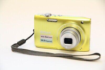 NIKON Coolpix S3100 14.0 MPixels Nikkor 5x Wide Optical Zoom Digital Camera EL19