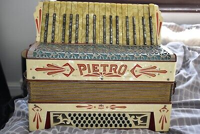 Pietro 48 Bass piano accordion vintage accordian made in Germany cased