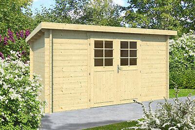 34 mm Gartenhaus ca. 400x300 cm Holz Pultdachhaus Gerätehaus Holzhaus Schuppen