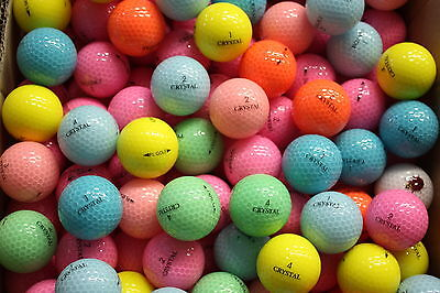 30 Crystal Loose Golf Balls   Never Played
