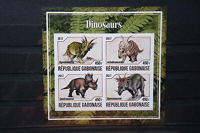 Dinosaurier 11 prehistoric animals Urzeittiere Dinosaurs Gabonaise 2017 ** MNH