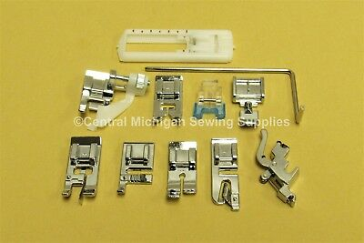 White Sewing Machine Snap On Attachments Fits 1415, 1418, 1477, 1515, 1525, 1632
