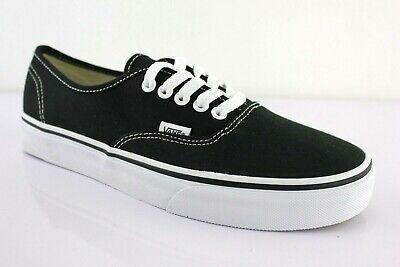 VANS  Authentic Schwarz Black Schuhe classic skater Freizeit sneakers Gr. wählba (Vans Authentic Skate Schuhe Schwarz)