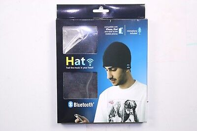 Used, WINTER Beanie  Wireless Headphone Hat Soft Warm Bluetooth Cap Smart Speaker Mic  for sale  Shipping to India