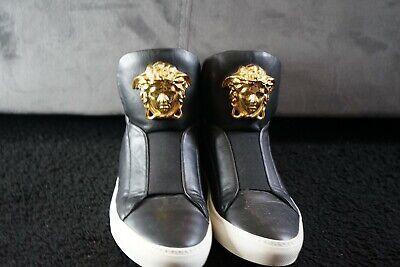 Authentic Black Mens Versace Hightop Shoes Uk Size 10