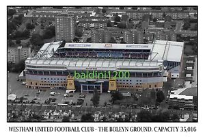 WEST HAM UNITED F.C. - THE BOLEYN GROUND STADIUM - LOOKS AWESOME FRAMED