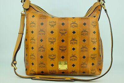 100% Authentic MCM Cognac Visetos 2 way Shoulder and Crossbody Bag