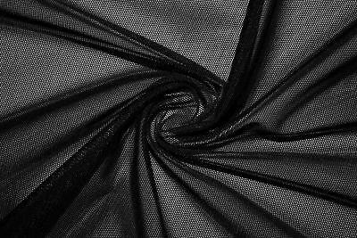 Black Power Mesh 4 Way Stretch Nylon Lycra Spandex Dance Swimwear Fabric (Lycra Swimsuit Fabric)