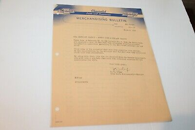 TWO 1953 CHEVROLET PARTS AND ACCESSORIES MERCHANDISING BULLETINS