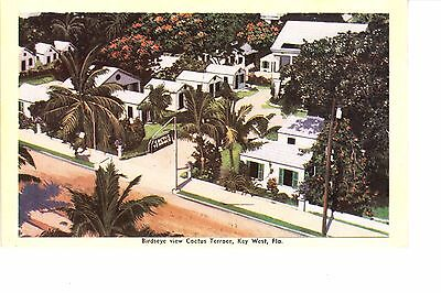 Key West, FL   Bird's Eye View Of Cactus Terrace Tourist Cabins 1930s