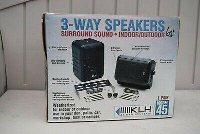 KLH 3-Way Surround Speakers Model 45 Indoor Outdoor Bracket Mounts Hardware NEW Speaker Mount Hardware