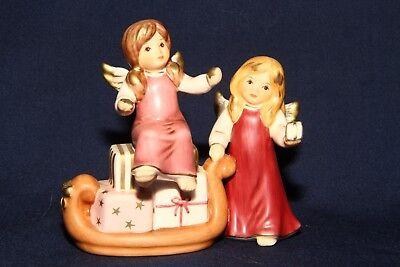 """Goebel Figur Statue Engel auf Schlitten m Geschenken """"So viele schöne Geschenke"""""""