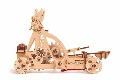 Wood Trick Egyptian Catapult Mechanical Wooden 3D Puzzle Model Assembly DIY Kit