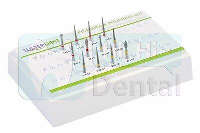 Dental Diamond Burs Set Finishing Cavity Preparation Kit Fg High Speed 1box