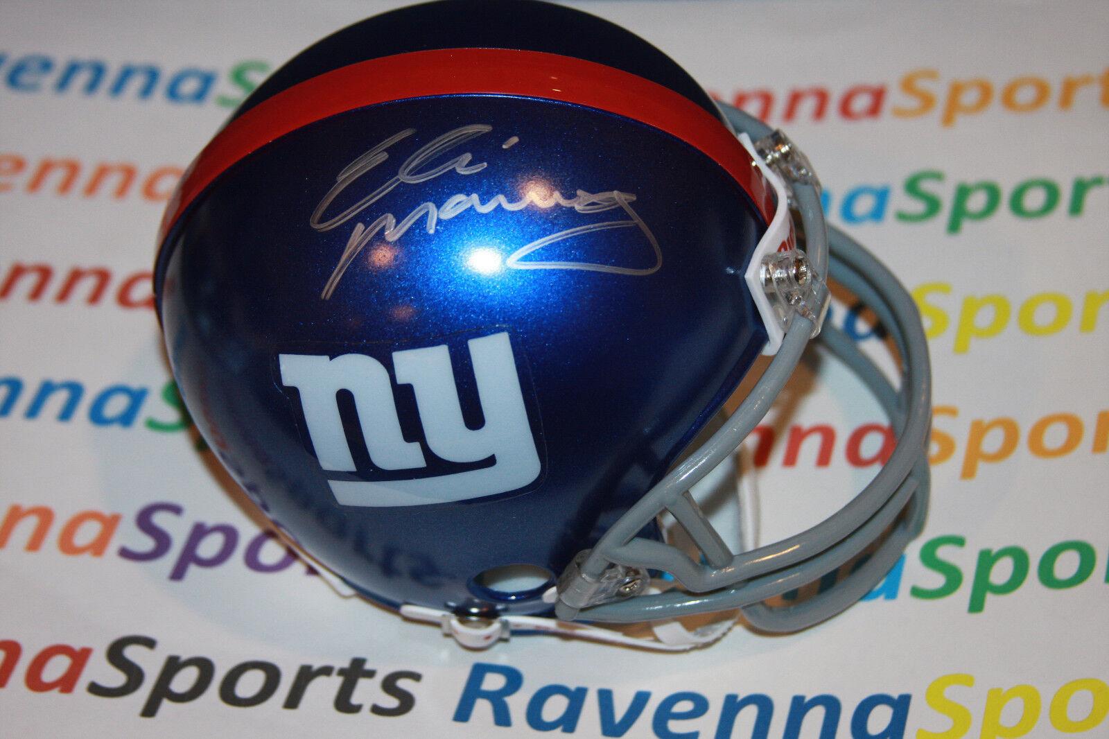 Eli Manning Autographed New York Giants Mini Helmet Steiner Hologram