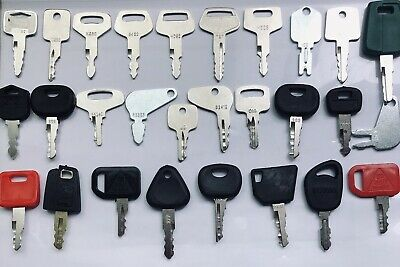 28pc Heavy Equipment Key Set Construction Ignition Keys Set