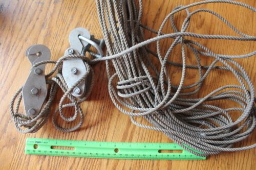Vintage Oxwall Aluminum block & tackle Pulley Hanging Rope Tools Hardware Japan
