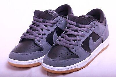 f754b8efd44d Nike Mens SB Dunk Low Dark Grey Black White Gum TRD AR0778 001 Size 9.5