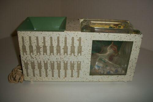 BILT RITE 1950s Live Fish Bowl Electric Lamp Metal Glass RARE Retro Vintage