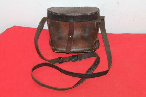 WWI LEATHER BROWN CASE BOX FOR AUSTRO - HUNGARY OR BULGARIAN 6X30 BINOCULARS