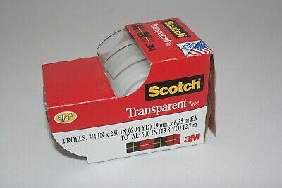 3m Scotch Tape Clear Office Transparent 34 250 W Desktop Dispenser Lot