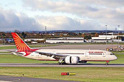 Air India Boeing 787 Dreamliner VT-ANI Arrives BHX From Delhi 18-04-18 Postcard