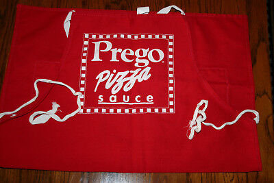 Vintage New Sponsored Advertising Cotton Blend BBQ Apron Prego Pizza Sauce