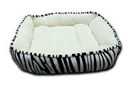 Zebra Print Dog Bed