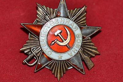 SOVIET RUSSIAN USSR PATRIOTIC WAR AWARD BADGE ORDER MEDAL 1 CLASS GOLD 218162