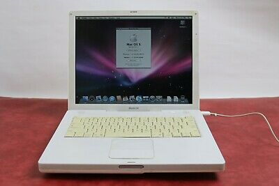 "Apple iBook 14"" PowerPC G4 1.33 GHz 1.25GB RAM 15 GB HDD OS X 10.5"