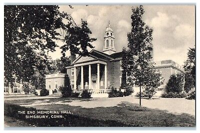 Eno Memorial Hall Simsbury  Ct Postcard