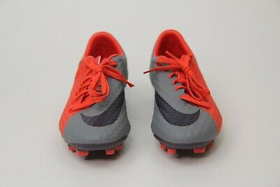 fbb989e88 New Nike Women's Hypervenom Phelon 3 Soccer Cleats Red Grey 881542-058 SZ 8