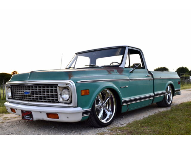 Chevrolet: C-10 Short Bed 1972 chevy c 10 custom short bed air ride 1 owner 27 k miles hot rod truck