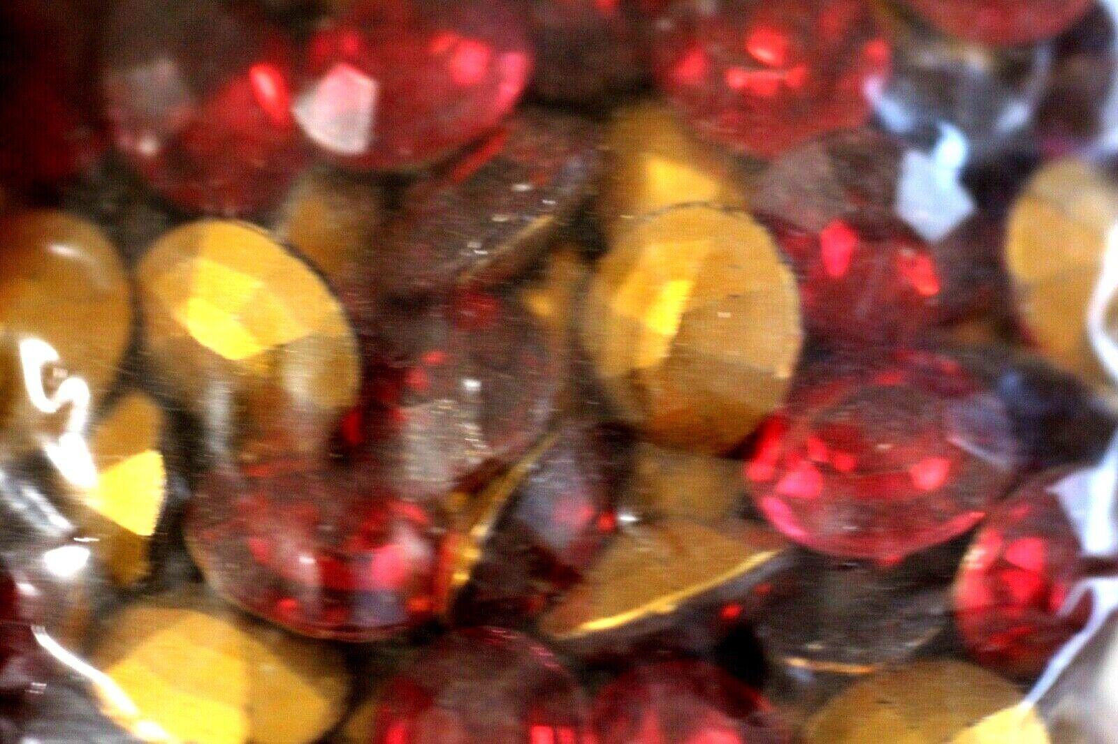 858 12X10MM OVAL GLASS RED RHINESTONES 12PC - $2.95