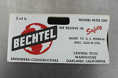 Vintage Bechtel T12 Welders Filter Lens 2 X 4 14 Replacement Nos