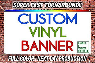 3x5 Custom Vinyl Banner Full Color High Quality - Free Design Included