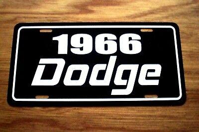 1966 Dodge license plate car tag 66 Dart Polara Charger R/T Coronet 440  Monoco