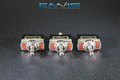 3 Pcs Toggle Switch Spdt On-off-on Toggle 10 Amp 250v 15 Amp 125v 3 Pin Ec-1535