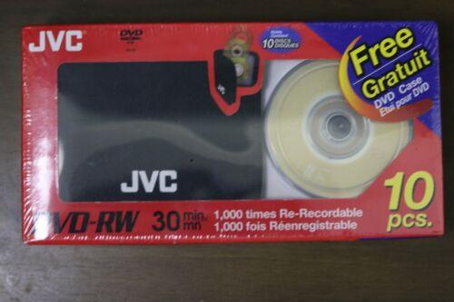 JVC dvd-rw 30min 10pcs